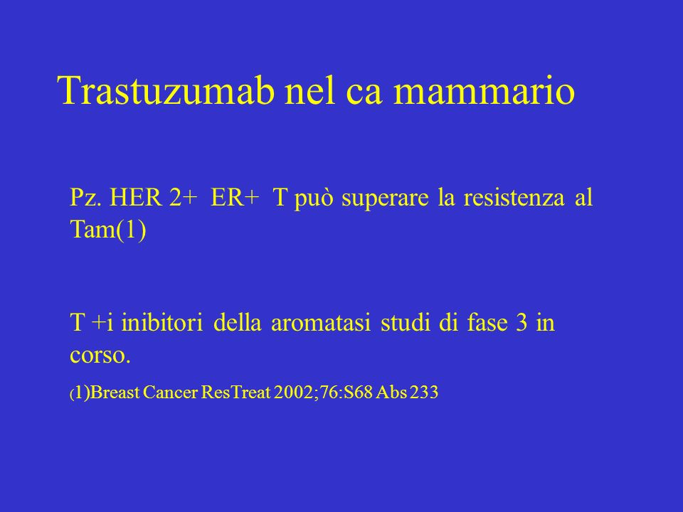 Trastuzumab nel ca mammario