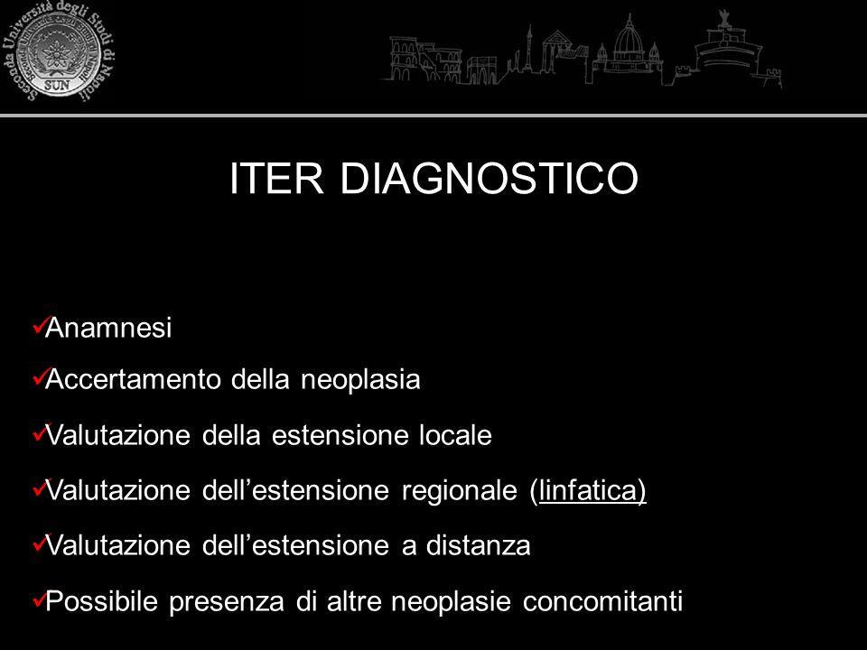 ITER DIAGNOSTICO Anamnesi Accertamento della neoplasia