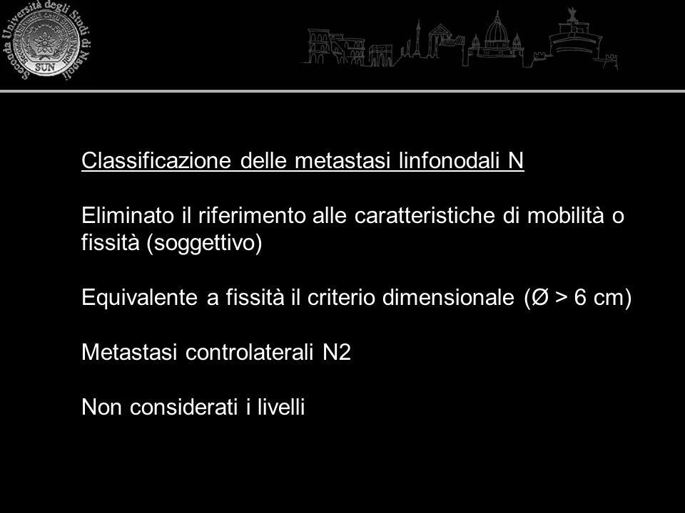 Classificazione delle metastasi linfonodali N