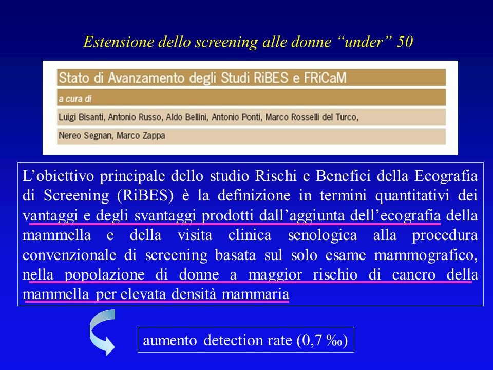 Estensione dello screening alle donne under 50