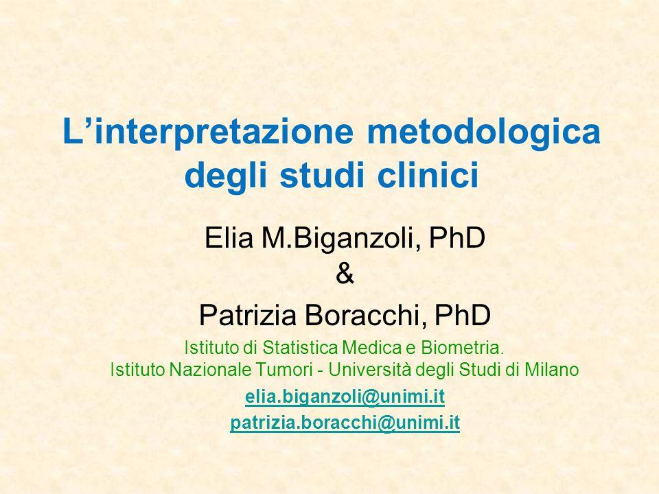 L'interpretazione metodologica degli studi clinici