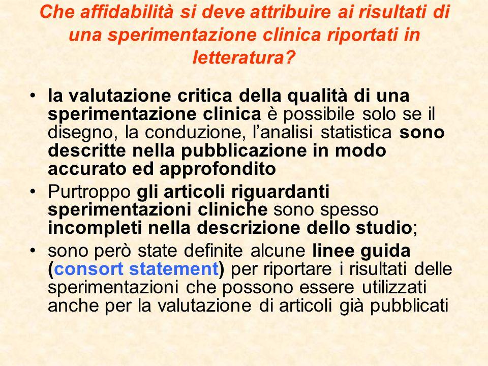 Che affidabilità si deve attribuire ai risultati di una sperimentazione clinica riportati in letteratura