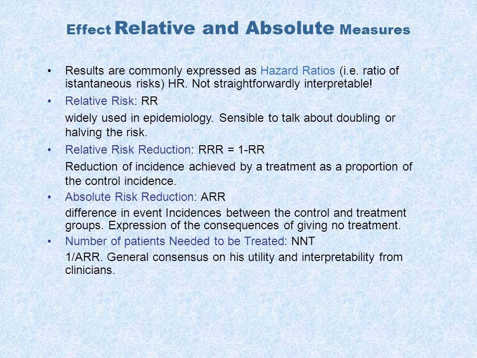 Effect Relative and Absolute Measures
