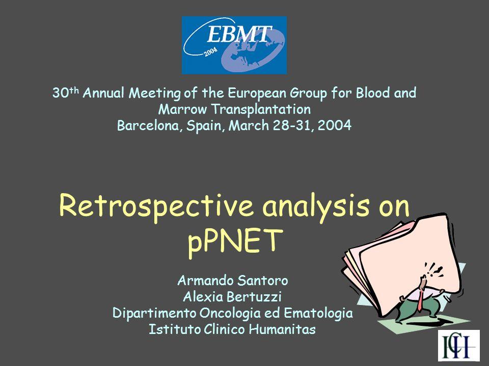 Retrospective analysis on pPNET