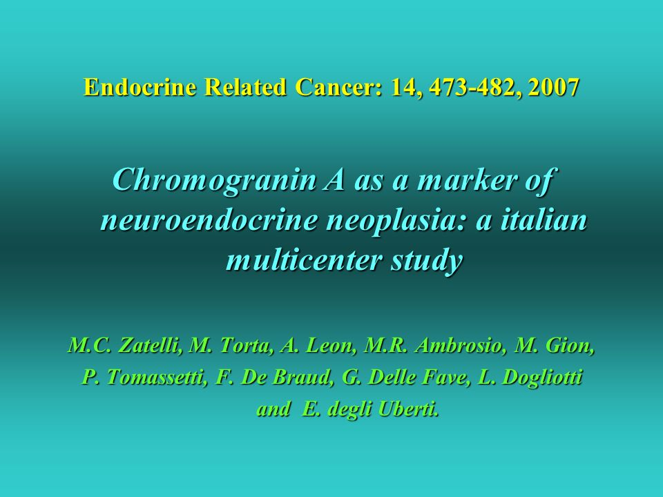 Endocrine Related Cancer: 14, 473-482, 2007