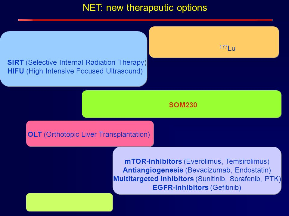 NET: new therapeutic options