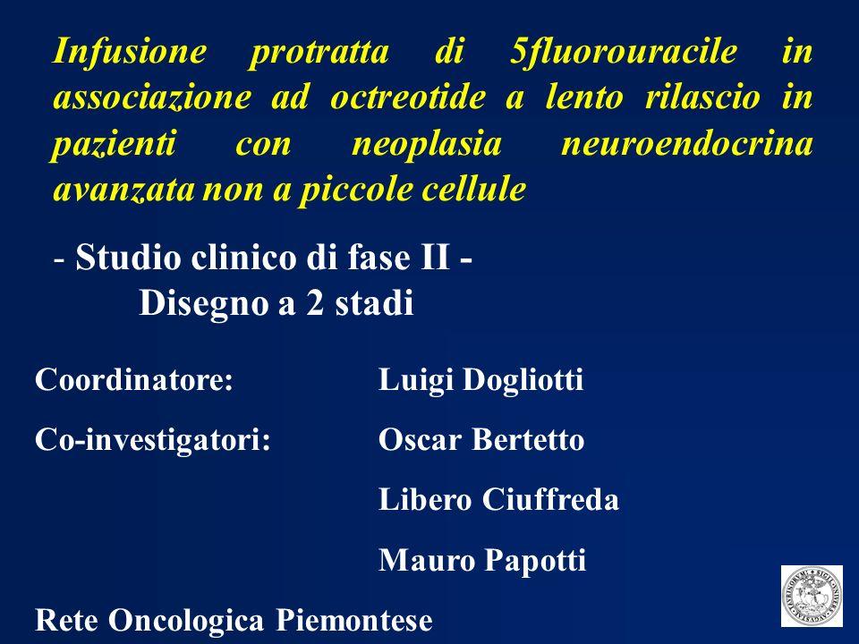 Studio clinico di fase II - Disegno a 2 stadi