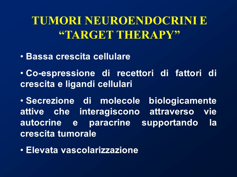 TUMORI NEUROENDOCRINI E TARGET THERAPY