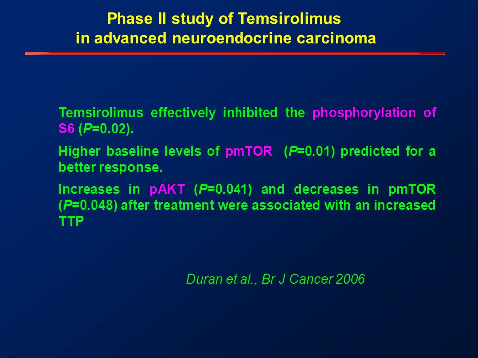 Phase II study of Temsirolimus in advanced neuroendocrine carcinoma