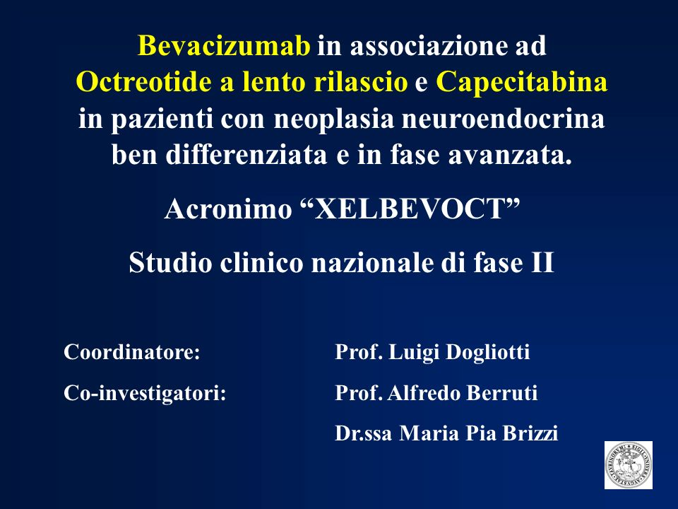 Studio clinico nazionale di fase II