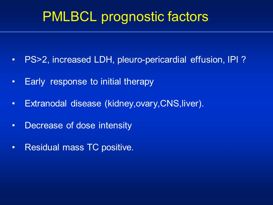PMLBCL prognostic factors