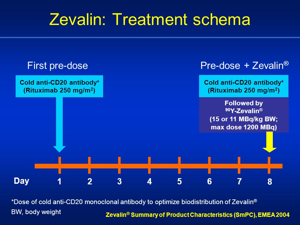 Zevalin: Treatment schema