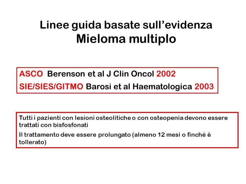 Linee guida basate sull'evidenza Mieloma multiplo