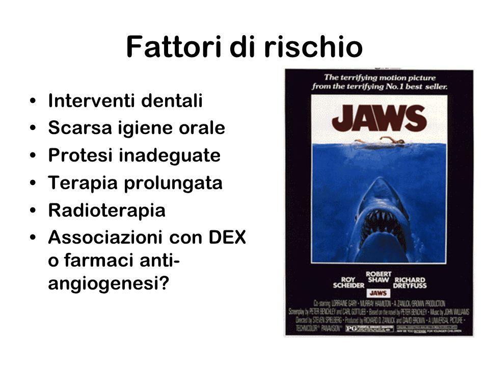 Fattori di rischio Interventi dentali Scarsa igiene orale