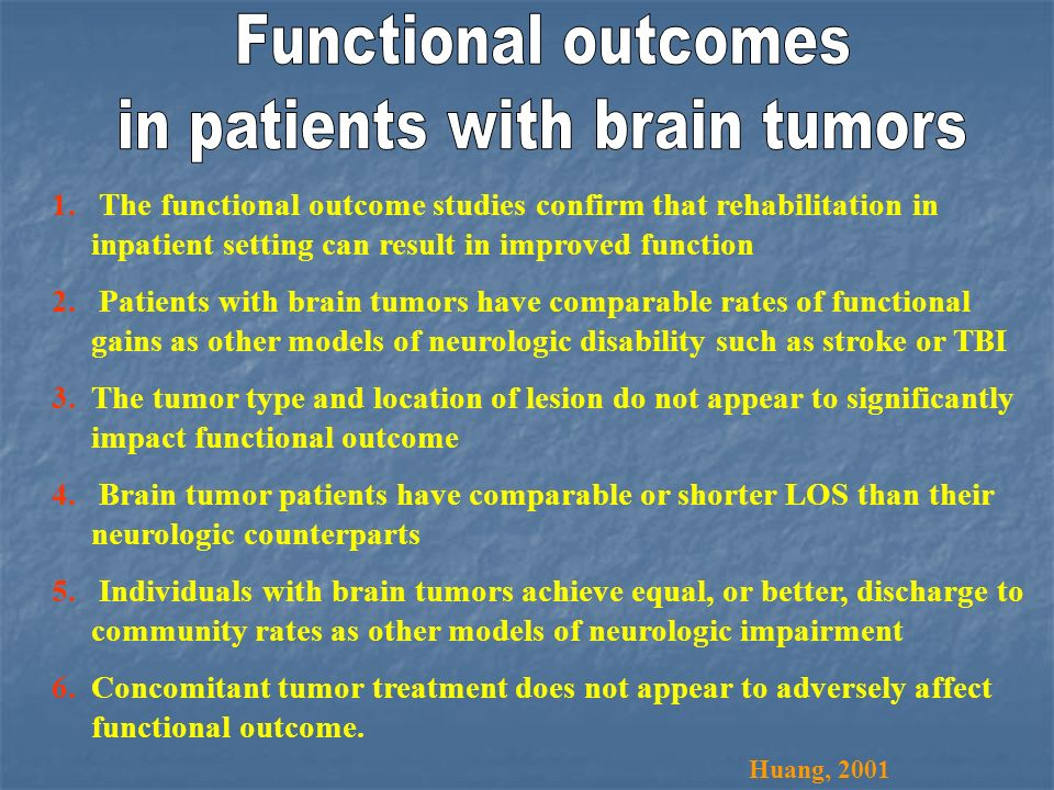 in patients with brain tumors