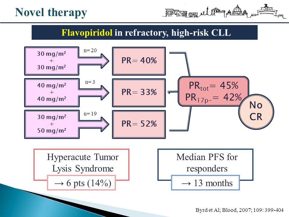 Flavopiridol in refractory, high-risk CLL
