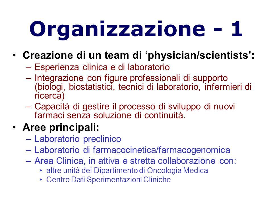 Organizzazione - 1 Creazione di un team di 'physician/scientists':