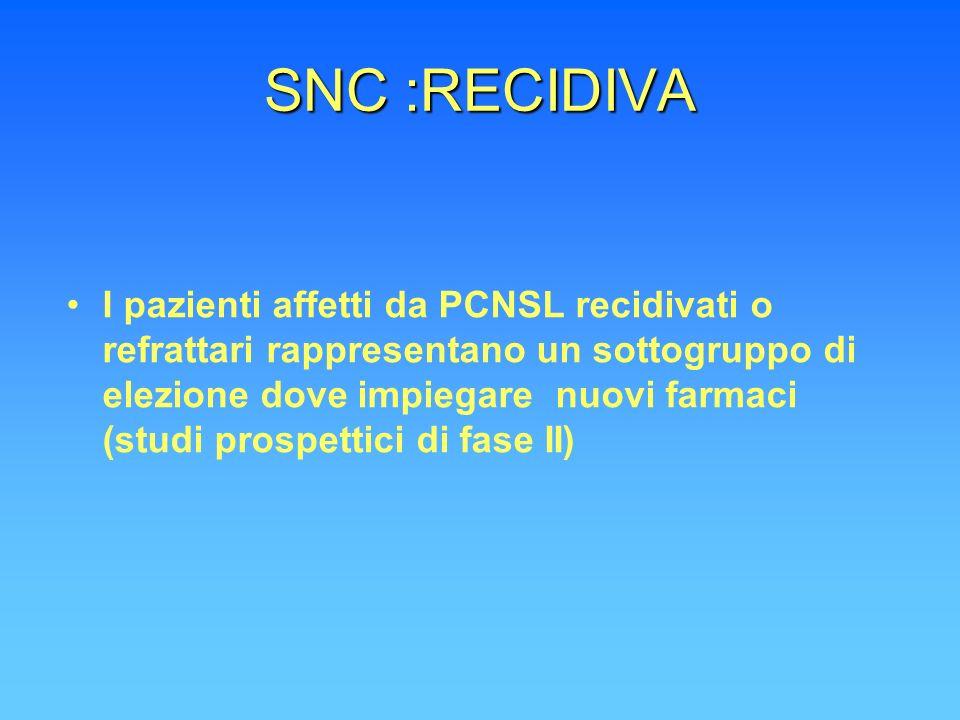 SNC :RECIDIVA