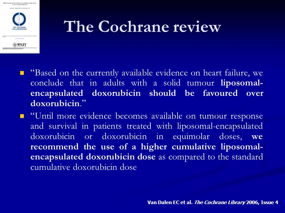 The Cochrane review