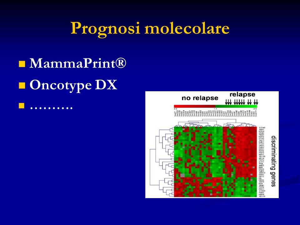 Prognosi molecolare MammaPrint® Oncotype DX ……….