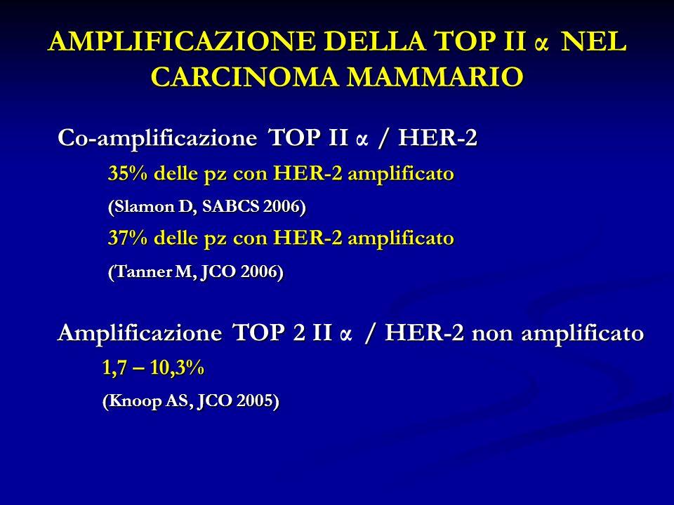 AMPLIFICAZIONE DELLA TOP II α NEL CARCINOMA MAMMARIO