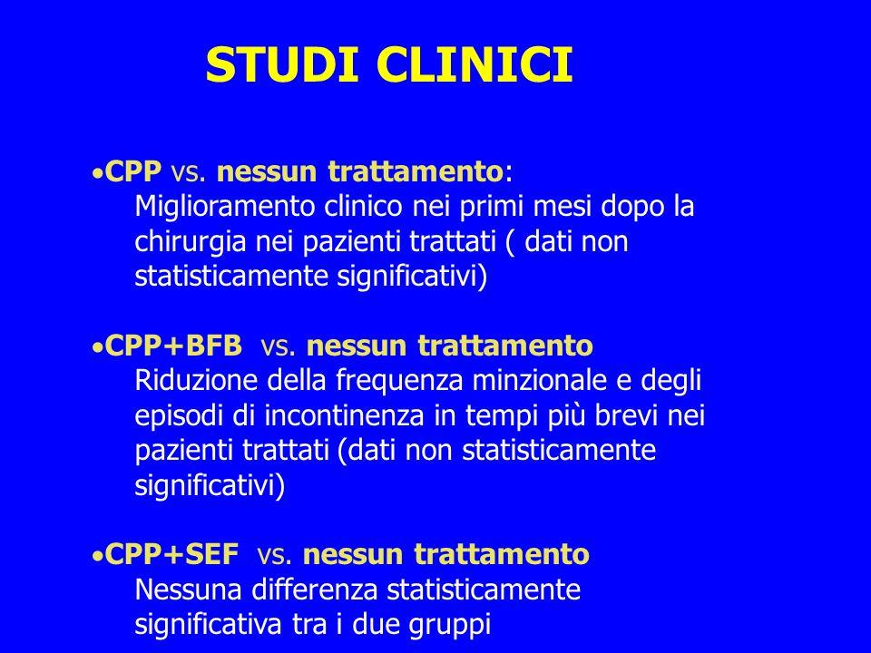 STUDI CLINICI CPP vs. nessun trattamento: