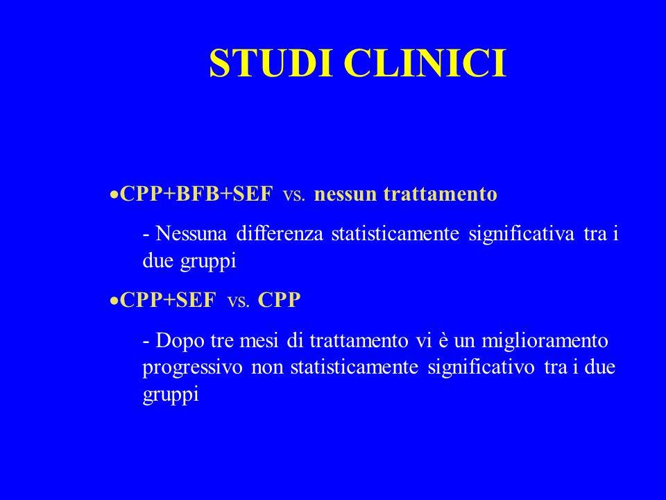 STUDI CLINICI CPP+BFB+SEF vs. nessun trattamento