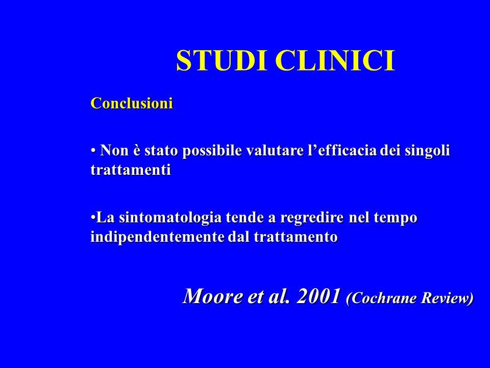STUDI CLINICI Moore et al. 2001 (Cochrane Review) Conclusioni