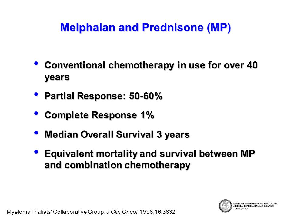 Melphalan and Prednisone (MP)