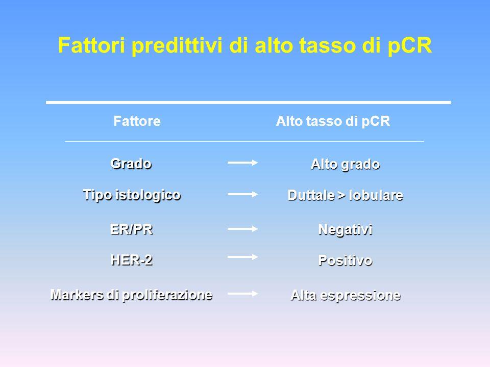 Fattori predittivi di alto tasso di pCR Markers di proliferazione