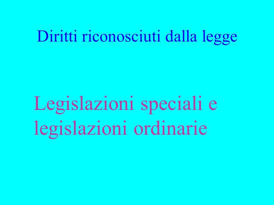 Diritti riconosciuti dalla legge