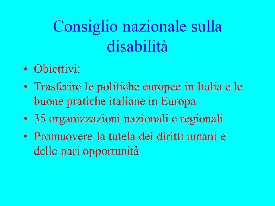 Consiglio nazionale sulla disabilità