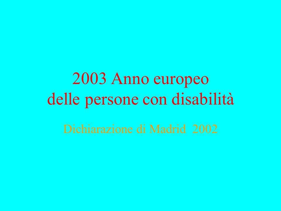 2003 Anno europeo delle persone con disabilità