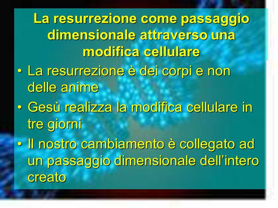 La resurrezione come passaggio dimensionale attraverso una modifica cellulare