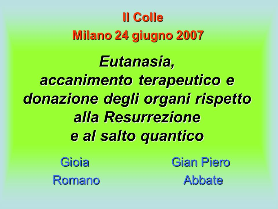 Gioia Gian Piero Romano Abbate