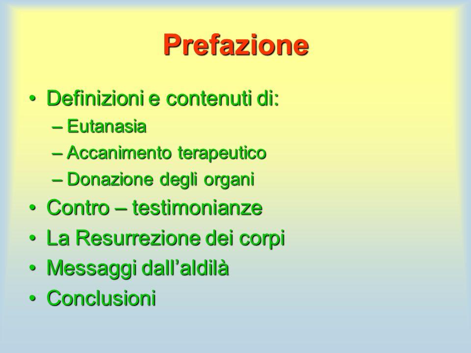 Prefazione Definizioni e contenuti di: Contro – testimonianze