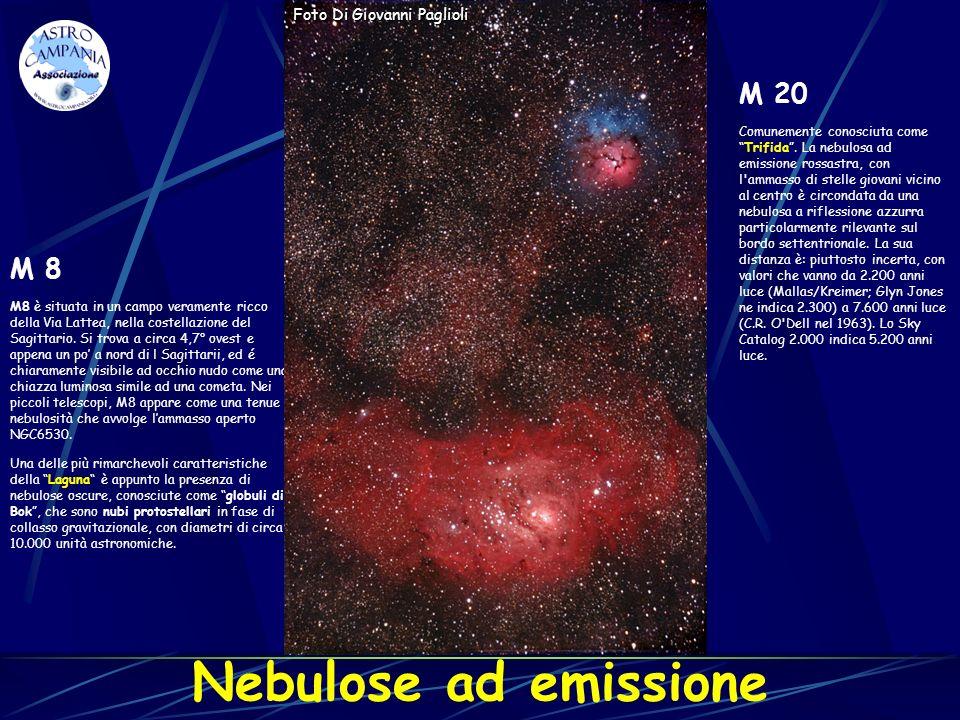 Nebulose ad emissione M 20 M 8 Foto Di Giovanni Paglioli