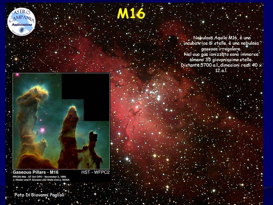 M16 Nebulosa Aquila M16, è una incubatrice di stelle, è una nebulosa gassosa irregolare.