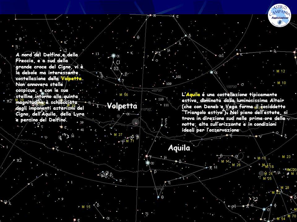 A nord del Delfino e della Freccia, e a sud della grande croce del Cigno, vi è la debole ma interessante costellazione della Volpetta. Non annovera stelle cospicue, e con le sue stelline intorno alla quinta magnitudine è schiacciata dagli imponenti asterismi del Cigno, dell'Aquila, della Lyra e persino del Delfino.