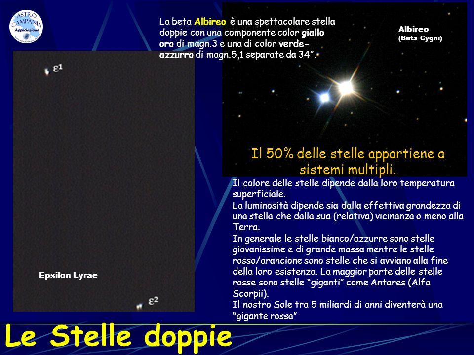 Il 50% delle stelle appartiene a sistemi multipli.