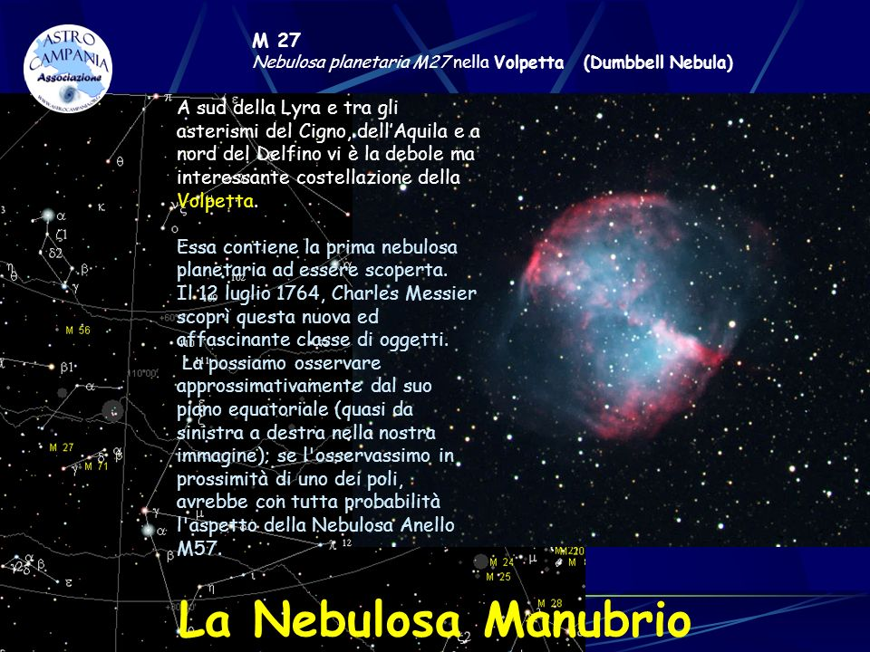 M 27 Nebulosa planetaria M27 nella Volpetta (Dumbbell Nebula)