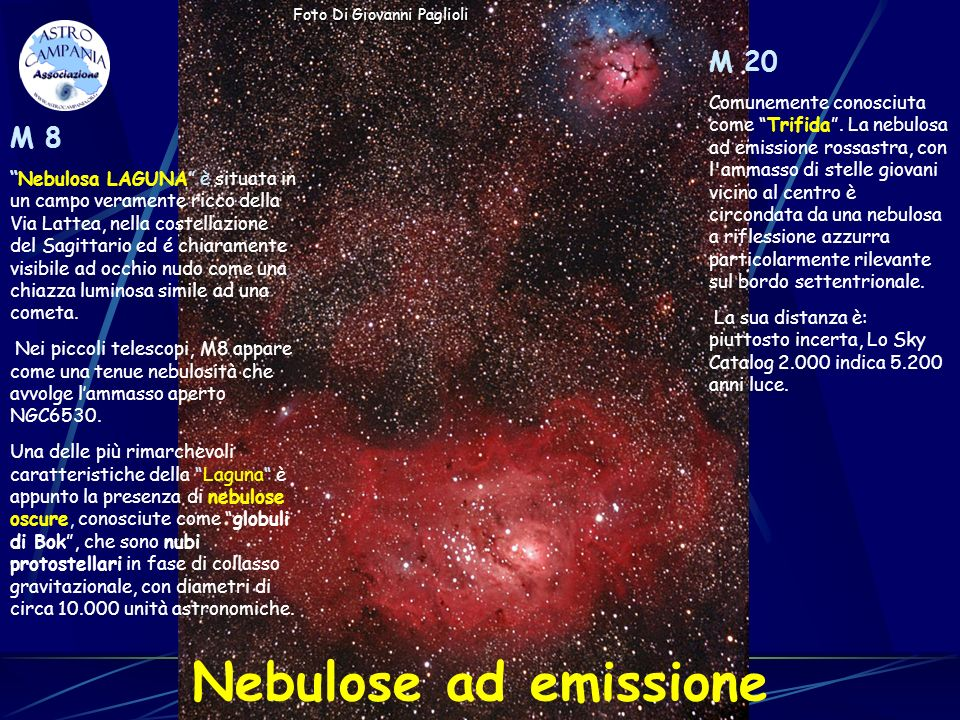 Nebulose ad emissione M 20 M 8