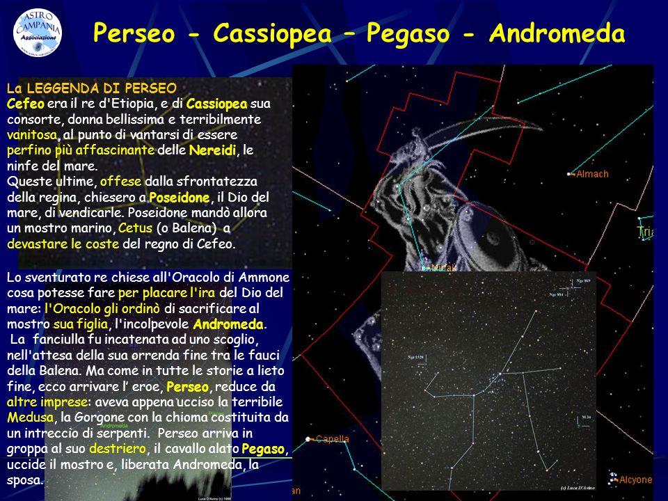 Perseo - Cassiopea – Pegaso - Andromeda