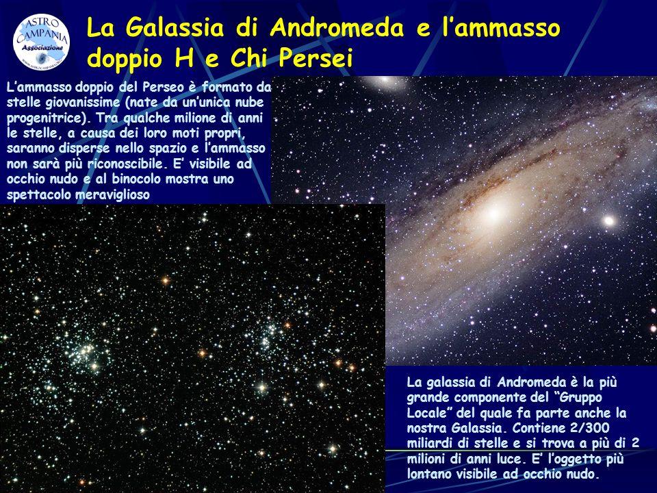 La Galassia di Andromeda e l'ammasso doppio H e Chi Persei