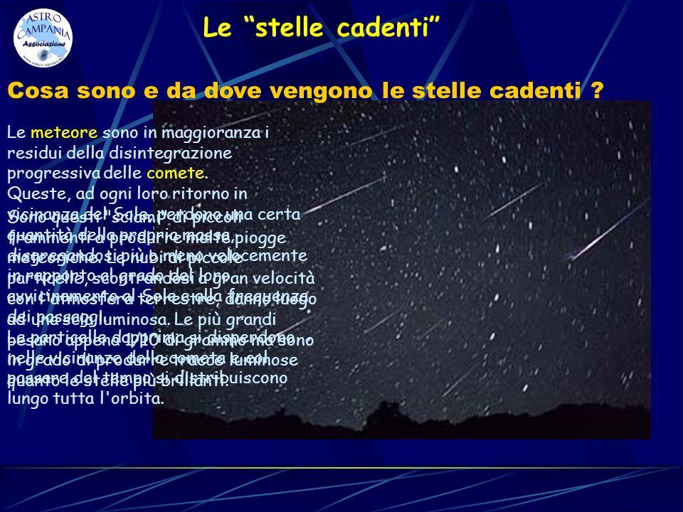 Le stelle cadenti Cosa sono e da dove vengono le stelle cadenti