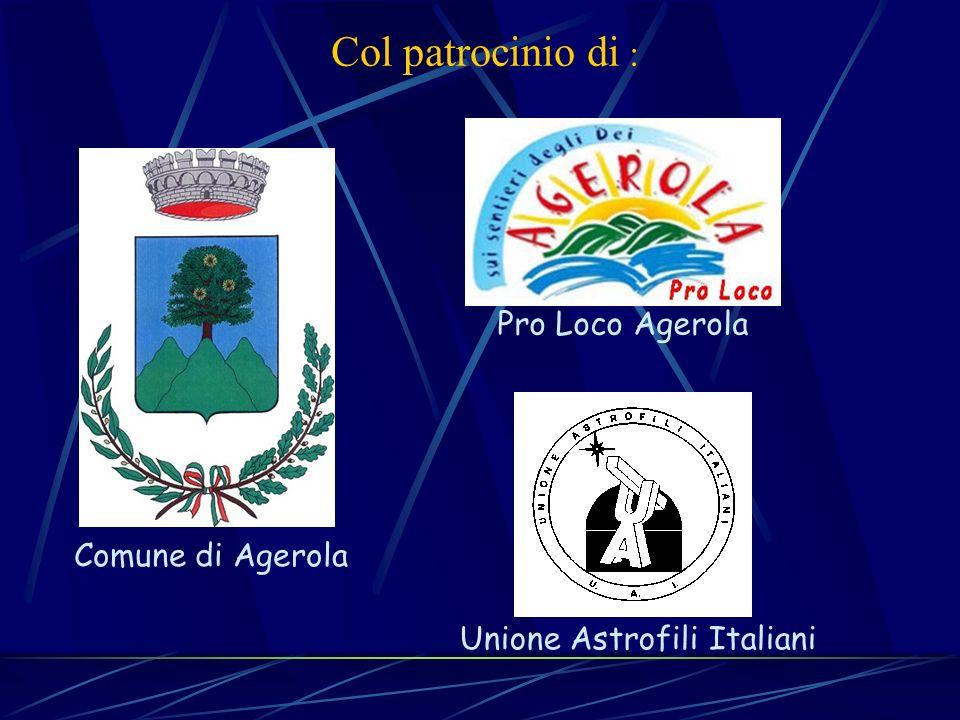 Col patrocinio di : Pro Loco Agerola Comune di Agerola