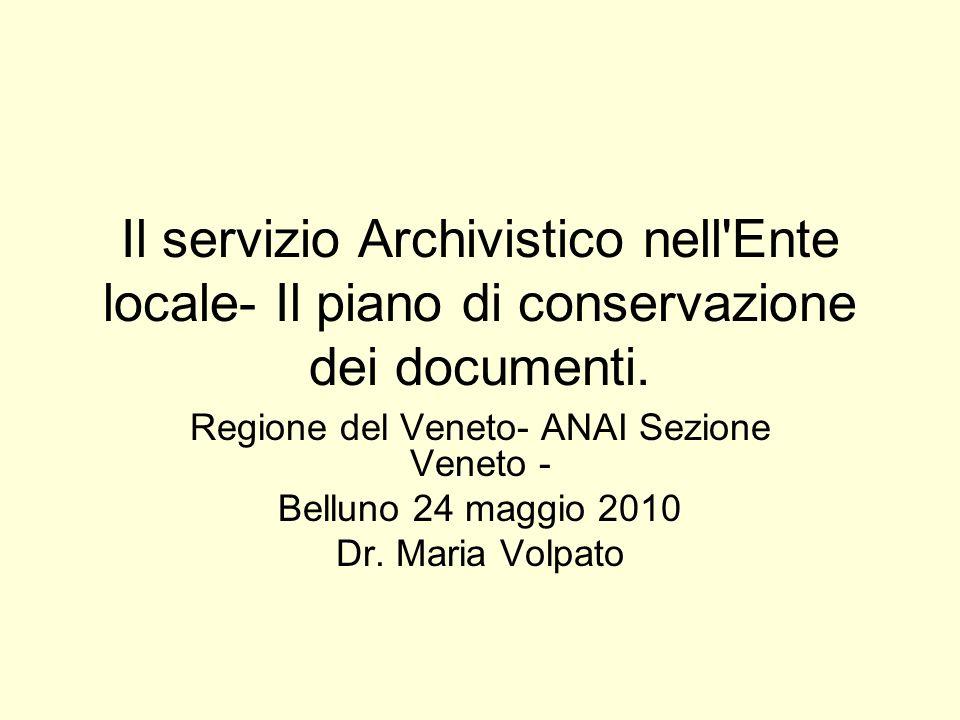 Regione del Veneto- ANAI Sezione Veneto -