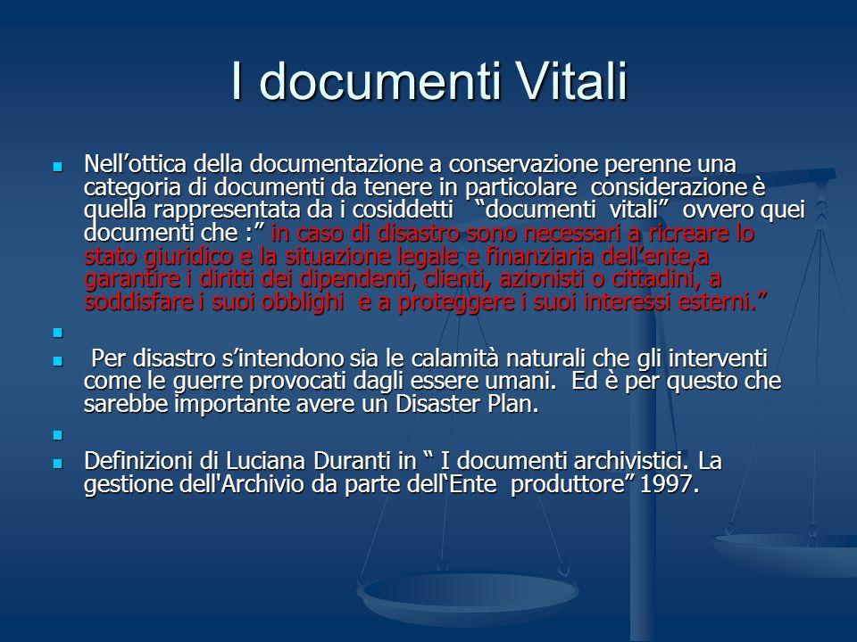 I documenti Vitali