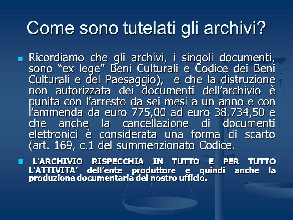 Come sono tutelati gli archivi