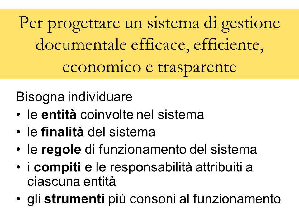 Per progettare un sistema di gestione documentale efficace, efficiente, economico e trasparente